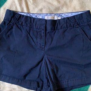 J.Crew Navy women's shorts chino size 10
